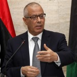 Libya's PM  Zeidan speaks during a news conference in Tripoli